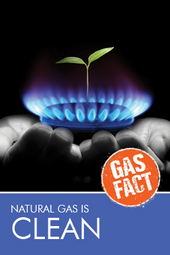 Natural gas is clean