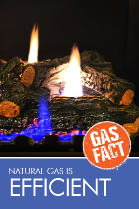 Natural gas is efficient