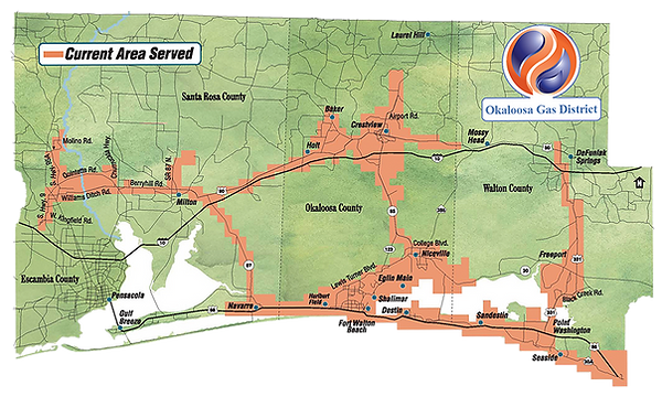 Okaloosa Gas Service Territory
