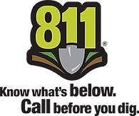 Call 811 Before You Dig logo