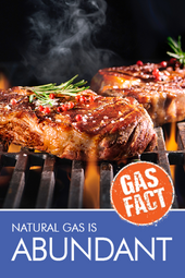 Natural gas is abundant