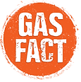 Orange Gas Fact stamp