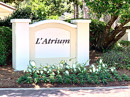 L'atrium subdivision entrance sign