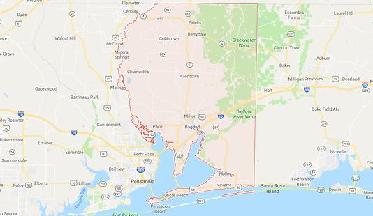 Santa Rosa County Map