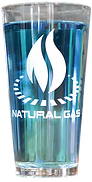 Natural Gas Energy Glass is Full