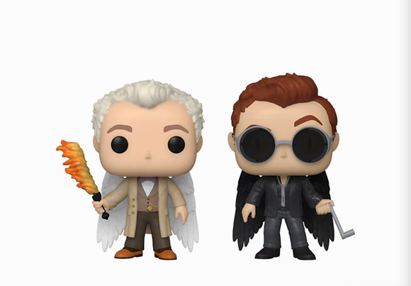 Funko Pop! Good Omens: Aziraphel and Crowley: 2 Pack Specialty Series