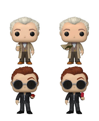 Funko Pop! Good Omens: Chase and Common Set of 4