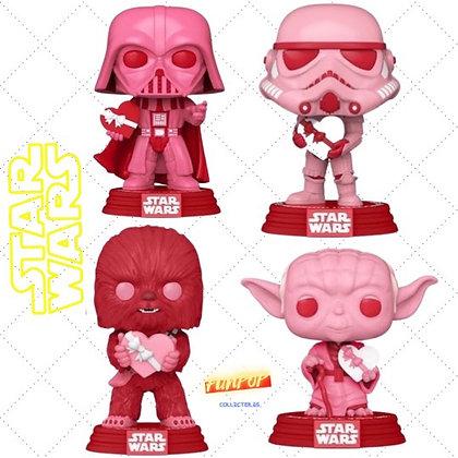Funko Pop! Star Wars Valentines: Bundle of 4