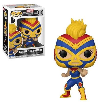 Funko Pop! Marvel Luchadores: La Estrella Cosmica (Captain Marvel)