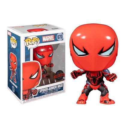 Funko Pop! Marvel: Spider-Armor MK III #670 Walgreens Exclusive