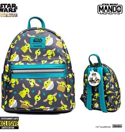 Loungefly! Sta Wars The Mandalorian: Child Mini-Backpack Entertainment Exclusive