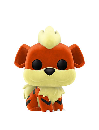 Funko Pop! Pokemon: Growlithe Flocked #597 2020NYCC Shared Sticker
