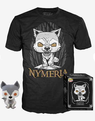 GOT POP! and TEE Nymeria T-Shirt & Vinyl Figure