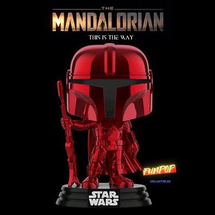 Funko Pop! Star Wars The Mandalorian: Mando (Red Metallic Exclusive)