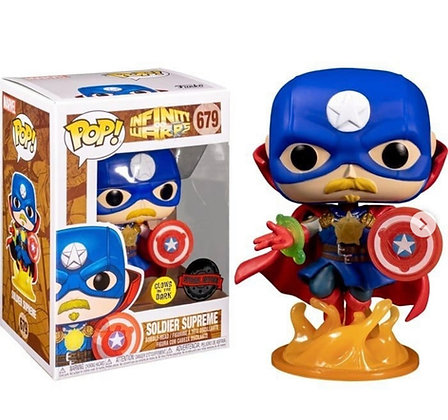 Funko Pop! Marvel Infinite Warps: Soldier Supreme Glow-In-The-Dark Exclusive