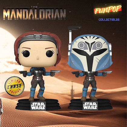 PREORDER Funko Pop! Star Wars The Mandalorian: CHASE/COMMON Bundle