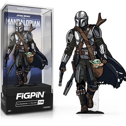 FiGPiN! Star Wars The Mandalorian: Mando with Child #736