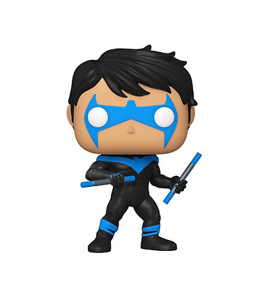 Funko Pop! DC: Nightwing #364 NYCC 2020 Shared Sticker Exclusive