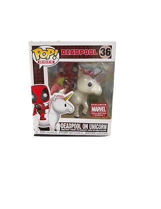 Funko Pop! Marvel: Deadpool on Unicorn Marvel Exclusive