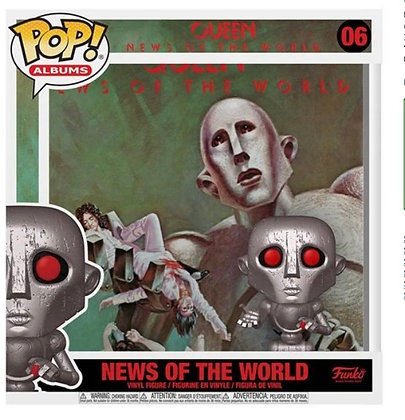 Funko Pop! Queen: News Of The World Album Figure with Case