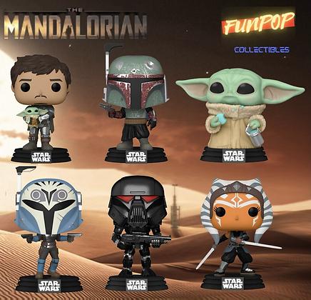 PREORDER Funko Pop! Star Wars The Mandalorian: Bundle of 6 NO CHASE