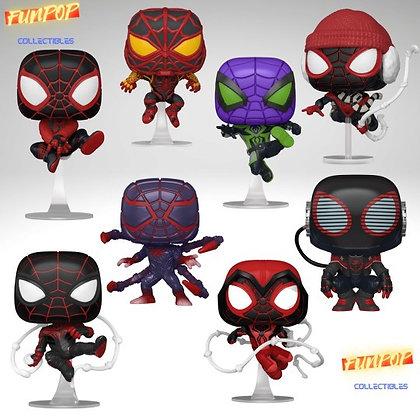 Funko Pop! Marvel Spider-Man Miles Morales: 8 Pop Set Bundle