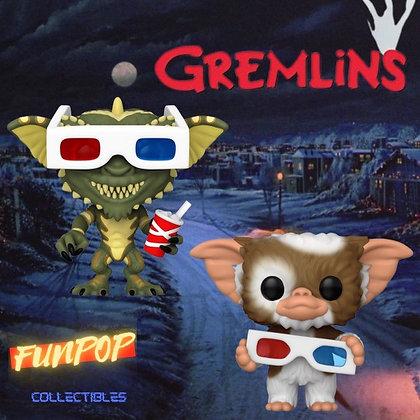 Funko Pop! Gremlins: 2 Pop Bundle Gizmo & Stripe with 3D Glasses