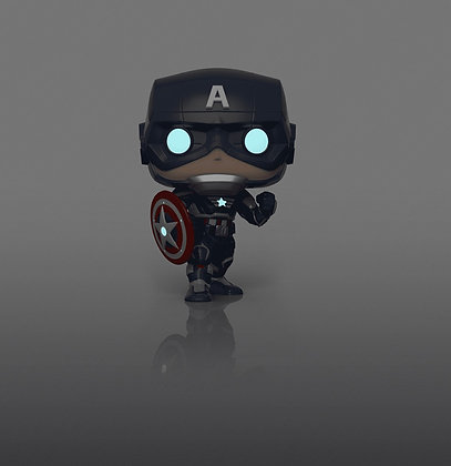 Funko Pop! Marvel Gameverse: Captain America Glow In The Dark BB Exclusive