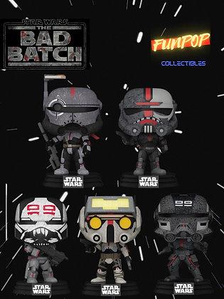 Funko Pop! Star Wars The Bad Batch: Bundle Set of 5 Commons