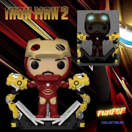 Funko Pop! Marvel Iron Man 2: Iron Man MK IV with Gantry GITD PX Exclusive