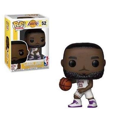 Funko Pop! NBA: Lebron James #52 Lakers White Jersey