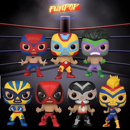 Funko Pop! Marvel Luchadores: Bundle of 7