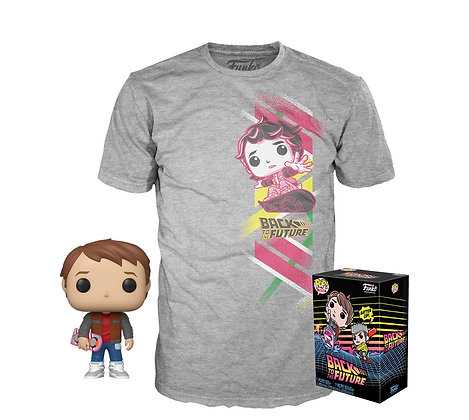Funko Pop! Back To The Future: Marty with Hoverboard Pop & Tee