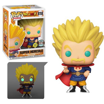 Funko Pop! Dragon Ball Z: Super Saiyan Hercule Glow In The Dark Specialty Series