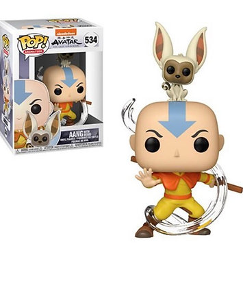 Funko Pop! Avatar The Last Airbender: Aang with Momo #534