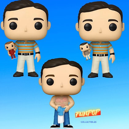 Funko Pop! 40 Year Old Virgin: Bundle of 3 ( Andy Waxed, Common, and Chase)