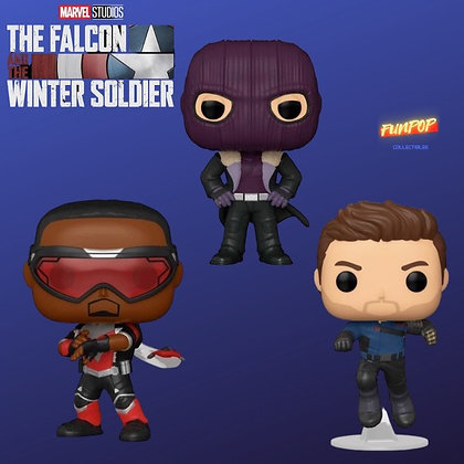 Funko Pop! The Falcon and Winter Soldier: 3 Pop Bundle