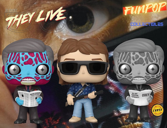PREORDER Funko Pop! They Live: Ultimate Bundle Guaranteed CHASE