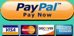 Pay with PayPal using Visa, Mastercard, Discover, American Express