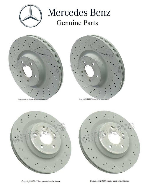 Drilled OE Mercedes Rotors (F&R)