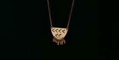 Modern Tribal Necklace -Gold