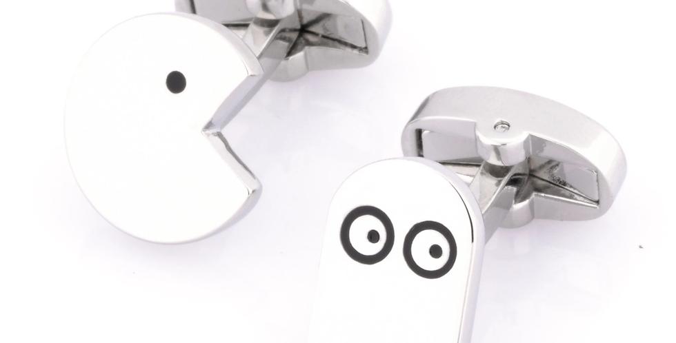 PacMan Cufflinks Silver