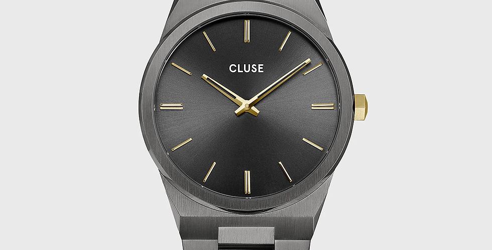 Cluse Mens - Vigoureux Dark Grey/Gold Link