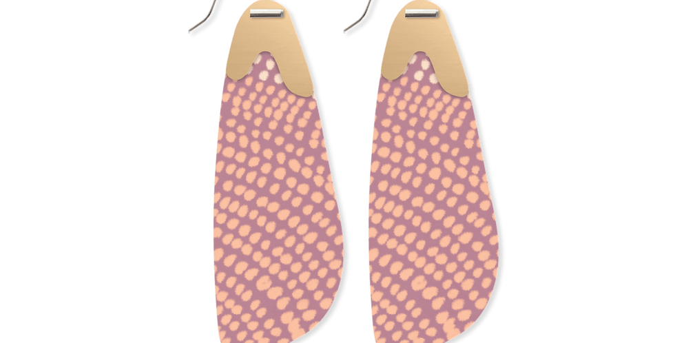 Organic Akweke Stories Layered Paddle Drop Earrings