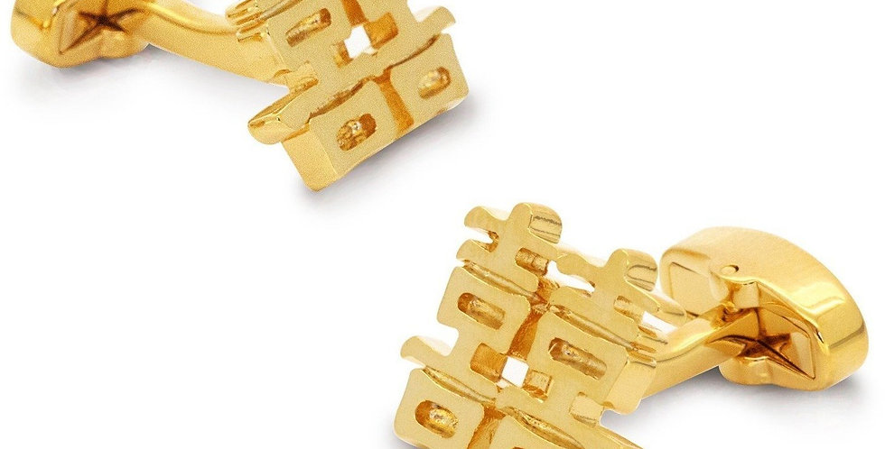 Chinese Symbol of Double Happiness Cufflinks