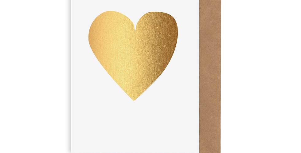 Card - Gold Heart