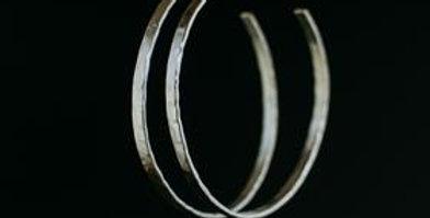 Large Hoop Earrings - Silver