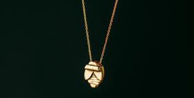 Bee Totem Necklace - Gold