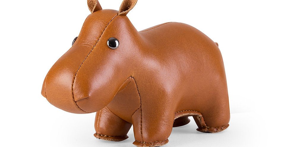 Paperweight - Classic Hippo Tan