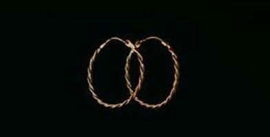 Twisted Sleeper Earrings - Gold